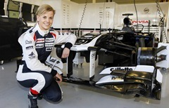 2012 Williams F1 Team Partner Day.Silverstone Circuit, Towcester, Northamptonshire.17th October 2012.Susie Wolff.World Copyright:Andrew Ferraro/LAT Photographicref: _Q0C6388