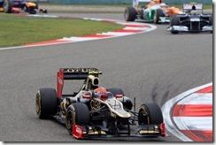 2012 Chinese Grand Prix - Sunday Shanghai International Circuit, Shanghai, China 15th April 2012 Romain Grosjean, Lotus E20 Renault.  World Copyright:Glenn Dunbar/LAT Photographic ref: Digital Image _G7C6759