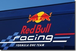 JEREZ DE LA FRONTERA, SPAIN - FEBRUARY 10:  Detail on Red Bull Racing hospitality unit during day four of Formula One winter testing at the Circuito de Jerez on February 10, 2012 in Jerez de la Frontera, Spain.  (Photo by Ker Robertson/Getty Images)
