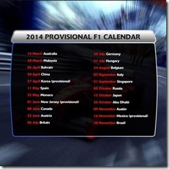 2014-Formula_1-Provisional_Calendar