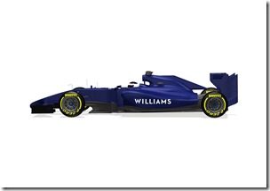 2014 Official Photos January 2013 The Williams FW36 Photo: Williams F1 . ref: Digital Image WF1_FW36_SIDE