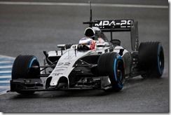 2014 F1 Pre Season Test 1 - Day 2 Circuito de Jerez, Jerez, Spain. Wednesday 29 January 2014. Jenson Button, McLaren MP4-29 Mercedes. World Copyright: Glenn Dunbar/LAT Photographic. ref: Digital Image _W2Q9002.JPG