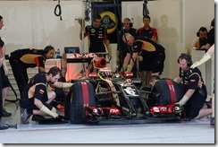 2014 F1 Pre Season Test 2 - Day 4 Bahrain International Circuit, Bahrain. Saturday 22 February 2014. Pastor Maldonado, Lotus E22 Renault. World Copyright: Andrew Ferraro/Lotus F1. ref: Digital Image _79P3450