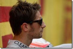 Interlagos, Sao Paulo, Brazil. Sunday 24th November 2013.  Romain Grosjean, Lotus F1, relaxes before the race Photo: Andrew Ferraro/Lotus F1 Team.  ref: Digital Image _MG_0856