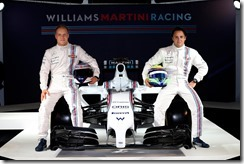 Williams Martini Racing Launch. 6th March 2014. Valtteri Bottas and Felipe Massa with the FW36. Photo: Williams Martini Racing. ref: Digital Image _W2Q9516