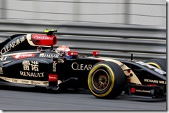 Shanghai International Circuit, Shanghai, China. Friday 18 April 2014. Pastor Maldonado, Lotus E22 Renault. Photo: Charles Coates/Lotus F1 Team. ref: Digital Image _N7T1235