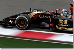 Shanghai International Circuit, Shanghai, China. Friday 18 April 2014. Romain Grosjean, Lotus E22 Renault. Photo: Glenn Dunbar/Lotus F1 Team. ref: Digital Image _W2Q3112