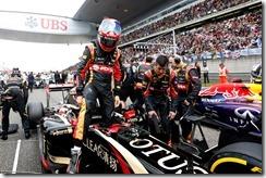 Shanghai International Circuit, Shanghai, China. Sunday 20 April 2014. Romain Grosjean, Lotus F1, on the grid. Photo: Alastair Staley/Lotus F1 Team. ref: Digital Image _R6T7878