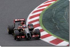 Circuit de Catalunya, Barcelona, Spain. Sunday 11 May 2014. Romain Grosjean, Lotus E22 Renault. Photo: Alastair Staley/Lotus F1 Team. ref: Digital Image _R6T6730