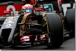 Monte Carlo, Monaco. Thursday 22 May 2014. Romain Grosjean, Lotus E22 Renault. Photo: Andrew Ferraro/Lotus F1 Team. ref: Digital Image _FER1499