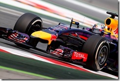 Sebastian Vettel of Germany and Infiniti Red Bull Racing drives during final practice ahead of the Spanish F1 Grand Prix at Circuit de Catalunya in Montmelo, Spain on May 10th, 2014 // Getty Images/Red Bull Content Pool // P-20140512-00265 // Usage for editorial use only // Please go to www.redbullcontentpool.com for further information. //
