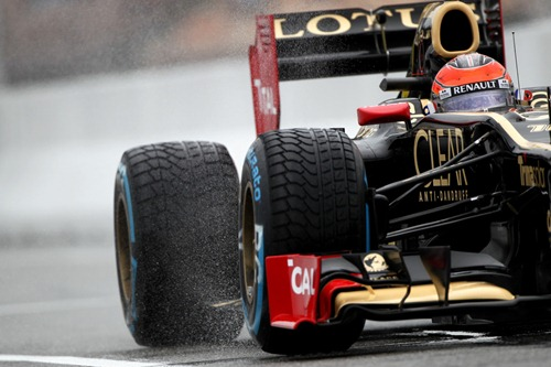 2012 German Grand Prix - FridayHockenheimring, Hockenheim, Germany20th July 2012Romain Grosjean, Lotus E20 Renault. World Copyright:Andy Hone/LAT Photographicref: Digital Image HONY2658