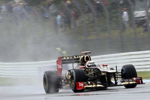 2012 German Grand Prix - FridayHockenheimring, Hockenheim, Germany20th July 2012Kimi Raikkonen, Lotus E20 Renault. World Copyright:Andrew Ferraro/LAT Photographicref: Digital Image _Q0C8270