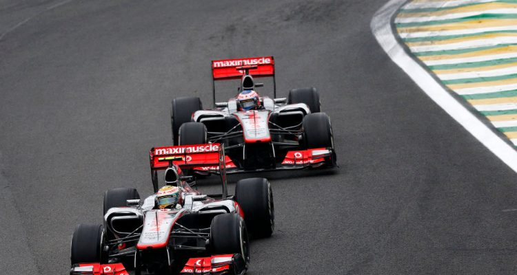 Lewis Hamilton and Jenson Button at Brazilian GP