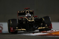 Yas Marina Circuit, Abu Dhabi, United Arab Emirates<br /> Friday 2nd November 2012.<br /> Kimi Raikkonen, Lotus E20 Renault.<br /> World Copyright:Charles Coates/LAT Photographic<br /> ref: Digital Image _N7T1114