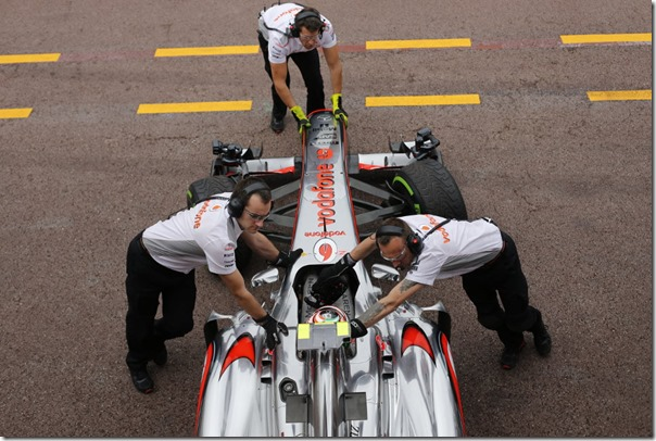 Sergio Perez in the pits