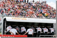 Vodafone McLaren Mercedes pit wall