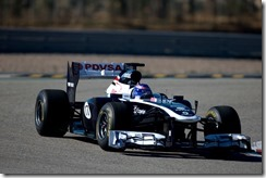 Williams F1 Collateral Filming Day 02 Monte Blanco Circuit, Spain. 30th January 2012 Images Copyright Malcolm Griffiths/LAT Digital Images F80P5651.jpg