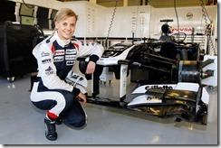 2012 Williams F1 Team Partner Day. Silverstone Circuit, Towcester, Northamptonshire. 17th October 2012. Susie Wolff. World Copyright:Andrew Ferraro/LAT Photographic ref: _Q0C6388