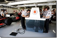 Jenson in the garage