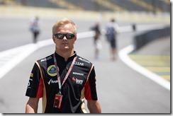 Interlagos, Sao Paulo, Brazil. Thursday 21st November 2013.  Heikki Kovalainen, Lotus F1. World Copyright: Steve Etherington/Lotus F1. ref: Digital Image SNE16790 copy
