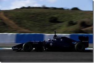 2014 F1 Pre Season Test 1 - Day 2 Circuito de Jerez, Jerez, Spain. Wednesday 29 January 2014. Valterri Bottas, Williams FW36 Mercedes. World Copyright: Glenn Dunbar/Williams F1. ref: Digital Image _89P9539