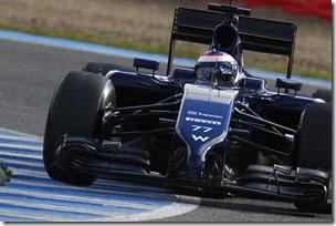 2014 F1 Pre Season Test 1 - Day 2 Circuito de Jerez, Jerez, Spain. Wednesday 29 January 2014. Valterri Bottas, Williams FW36 Mercedes. World Copyright: Alastair Staley/Williams F1. ref: Digital Image _A8C8673