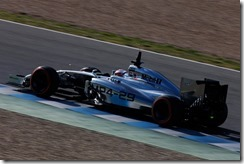 2014 F1 Pre Season Test 1 - Day 3 Circuito de Jerez, Jerez, Spain. Thursday 30 January 2014. Kevin Magnussen, McLaren MP4-29 Mercedes. World Copyright: Andrew Ferraro/LAT Photographic. ref: Digital Image _79P2063