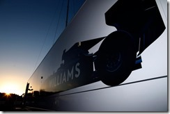 2014 F1 Pre Season Test 1 - Day 3 Circuito de Jerez, Jerez, Spain. Wednesday 29 January 2014. Williams branding on the trucks. World Copyright: Glenn Dunbar/Williams F1. ref: Digital Image _89P9897
