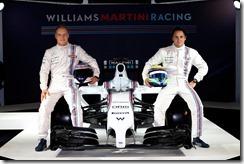 Williams Martini Racing Launch. 6th March 2014. Valtteri Bottas and Felipe Massa with the FW36. Photo: Williams Martini Racing. ref: Digital Image _W2Q9516