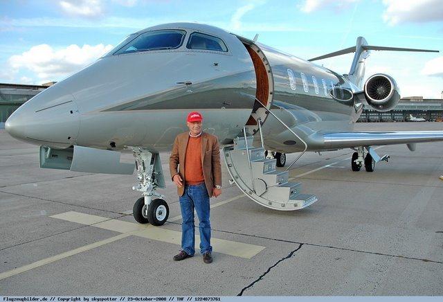 Jet Privato Niki Lauda : Sebastian vettel private jet pustcha