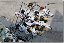 Sepang International Circuit, Sepang, Kuala Lumpur, Malaysia. Sunday 30 March 2014. Valterri Bottas, Williams FW36 Mercedes, makes a pit stop. Photo: Steven Tee/Williams F1. ref: Digital Image _L0U6595