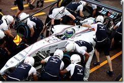 Monte Carlo, Monaco. Thursday 22 May 2014. Felipe Massa, Williams FW36 Mercedes, in the pits. Photo: Glenn Dunbar/Williams F1. ref: Digital Image _89P8536