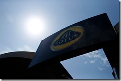 Circuit de Catalunya, Barcelona, Spain. Thursday 8 May 2014. The Lotus F1 logo. World Copyright: Andrew Ferraro/Lotus F1. ref: Digital Image _FER6387