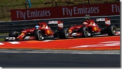 Alonso-Kimi-Ferrari-Hungarian_GP-2014