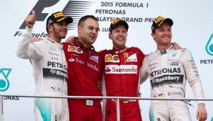 Malaysian GP Podium 2015