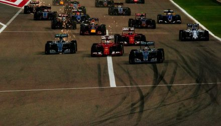 Bahrain GP 2015 Race Start