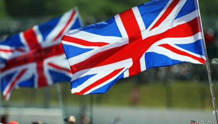 British Flag at Silverstone