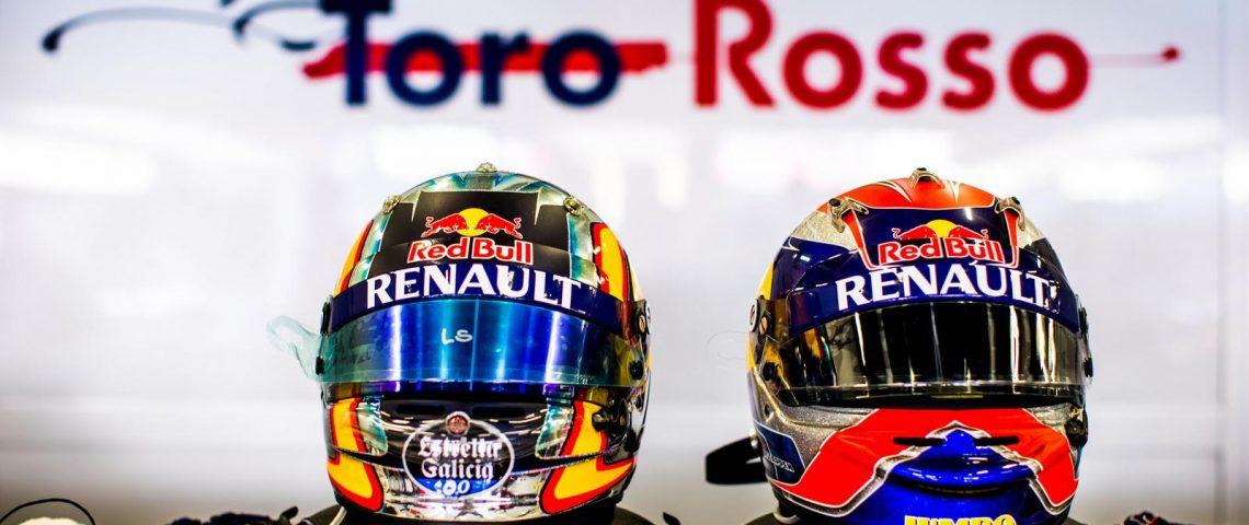 Toro Rosso drivers helmets