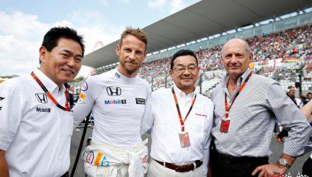 Jenson Button with Ron Dennis