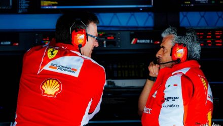 Maurizio Arrivabene with James Alisson