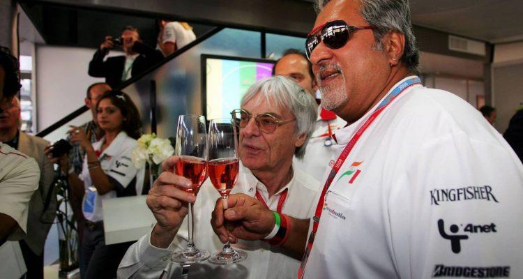 Vijay Mallya with Bernie Ecclestone