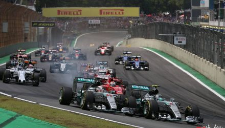 Hamilton vs Rosberg in Interlagos