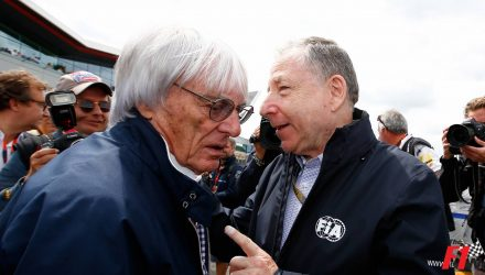Bernie Ecclestone with Jean Todt